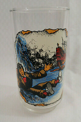 1985 Goonies Drinking Glass Data on the Waterslide  Godfather's Pizza Promo