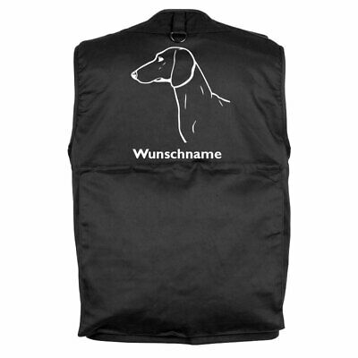 MIL-TEC Hundesport Outdoor Weste Dackel Dachshund inkl. Wunschname