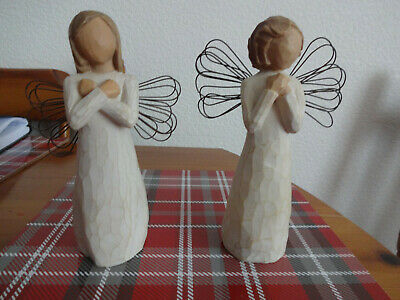 Willow tree figures , Angel of wishes and sign for love
