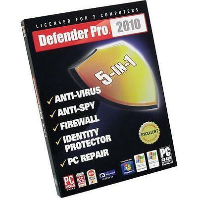 Defender Pro 5-in-1 2010 Internet Security (PC) New Sealed