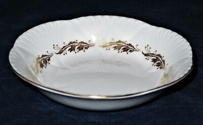 Shelley Fine Bone China ACANTHUS (Dainty Shape), Gold Leaves Fruit Dessert Bowl