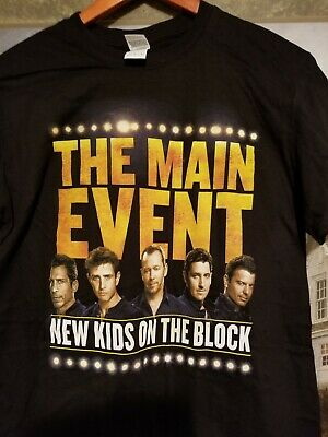 """New kids On The Block  black t-shirt """"The Main Event"""" large"""