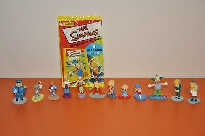 """The SIMPSONS= PANINI -""""12 PIECE MINI STATUE SET"""" w/Wrapper from ITALY/2000"""
