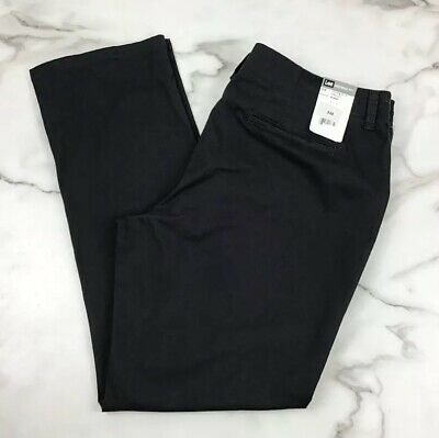 Lee Mineral Blue / Gray Mid Rise Fit Straight Leg Chino Pants 16 M NWT