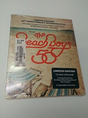 Beach Boys Limited Edition 50th Anniversary CD, 72pg Magazine, Post cards SEALED