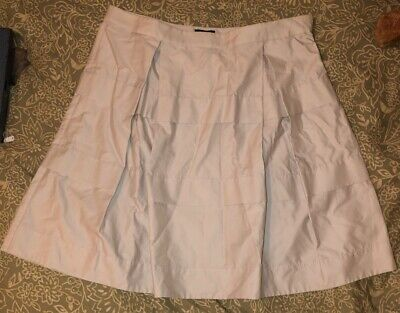 Gently Used Women's J CREW Beige Pleated Skirt, Size 8