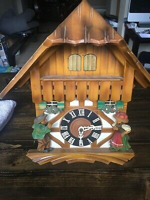 """/""""Clock of the Year 2018/"""" Cuckoo Clock 8-day-movement Chalet-Style 24.8/"""" by Hekas"""
