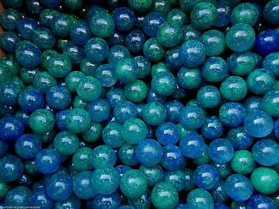 """MARBLE BULK LOT 2 LBS OF 5//8/"""" BLUE DOLPHIN STRIPED MEGA MARBLES FREE SHIPPING"""
