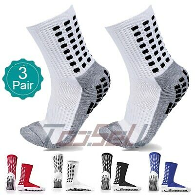 Anti Slip Football Running Basketball Socks 3Pair Absorb Sweat Soft Sport Socks