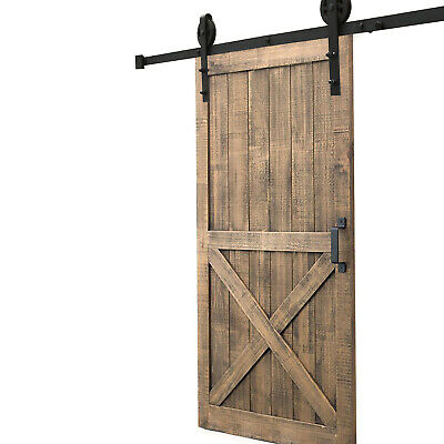 Sliding Barn Door Hardware Set - 2.44/3/3.6/4M Antique Track Roller Kit Interior