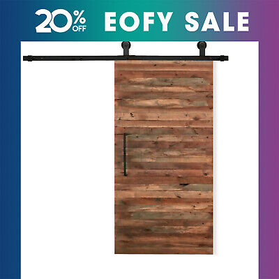 2/2.44/3/3.66/4M Sliding Barn Door Hardware Set Track Kit Bedroom Interior Retro