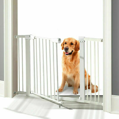 76cm Tall Adjustable Wide Baby Kids Pet Safety Security Gate Stair Barrier Door