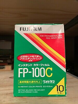 1 PACK FujiFilm FP-100C Instant Color Film 10 Prints Fuji ISO 100 EXPIRED 2009