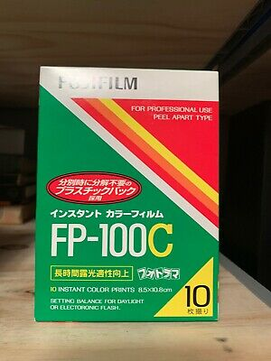 1 PACK FujiFilm FP-100C Instant Color Film 10 Prints Fuji ISO 100 EXPIRED 2010