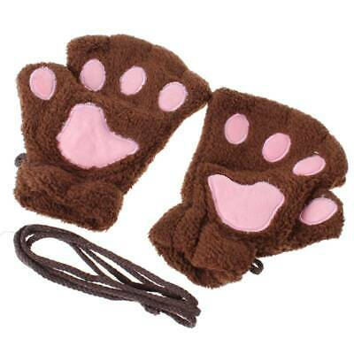 Thermal Glove Typing Gloves Hot Gift Convenient Half Finger Bear'S Paw Mitten LP