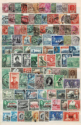 10985- British Colonies, collection of stamps.