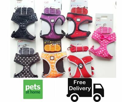 Pet At Home Cat Comfort Harness & Lead Set 7 Colours Brand New Sealed