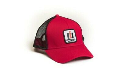 IH136 INTERNATIONAL HARVESTER *TAN RED /& BLACK HIGH CROWN* LOGO Hat Cap NEW