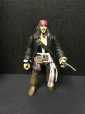 "JACK SPARROW Disney Pirates Of The Carribean ZIZZLE 7"" Action Figure"
