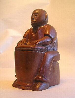 A 20th Century Hand Carved Wood Carribean Drummer Z19