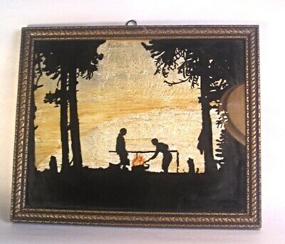 An Early 20th Century Foil and Eglomise Painting in Reverse Picture T26