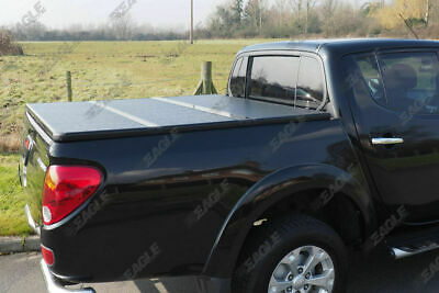 Mitsubishi L200 Hard Tri Fold Tonneau Cover - 2010-2015 Long Bed D/C