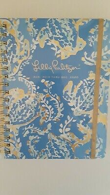 Lilly Pulitzer New W/Tags Spiral Agenda Planner. Aug 2019-Dec 2020. Blue W/Gold