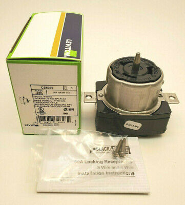 Leviton CS6369 3-Pole, 4-Wire Locking CS Receptacle 50A 125/250 VAC