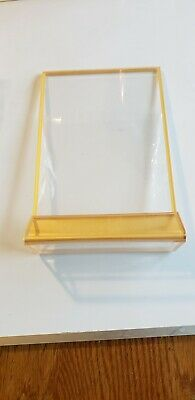 """4 pack 5"""" X 7"""" Acrylic Commercial Menu Holders with Gold Borders Vertical"""