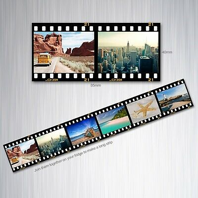 Film Strip Photo Fridge Magnets Old Retro / Solid Plastic / Personalised