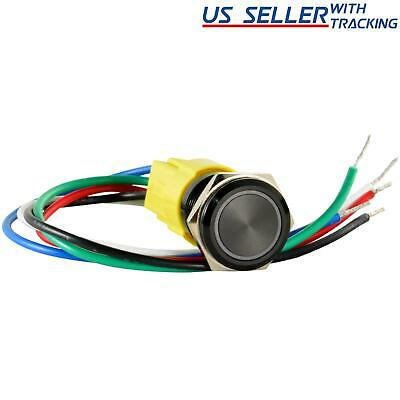 16mm 12V LED Momentary Push Button Starter Switch Boat Horn Metal Waterproof