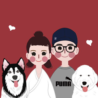 Personalized Design Hand Drawing Cute Cartoon Image Portrait Special Family GIFT