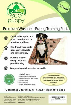 Reusable Washable Puppy Pee Pads. Training Pads. Eco-Friendly 2-Pack