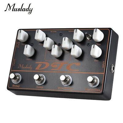 4-In-1 Electric Guitar Bass Pedal Distortion Guitar Player Reverb Overdrive O3D1
