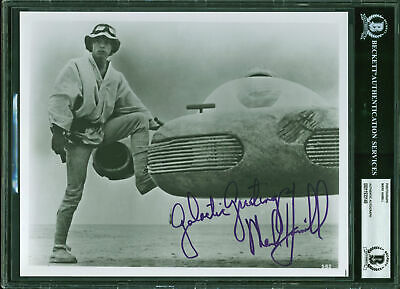 "Mark Hamill Star Wars ""Galactic Greetings"" Authentic Signed 8x10 Photo BAS Slab"
