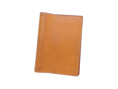 HERMES Square E (2001) Note/Agenda Cover Light Brown Pigskin Leather - e44278a