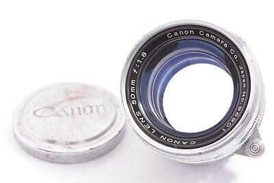 CANON early chrome ver 50mm/F1.8 Leica 39mm LMT screw mount #96901