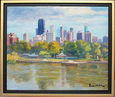 Lincoln Park, Chicago~Listed Artist~Original Oil Painting By Marc Forestier