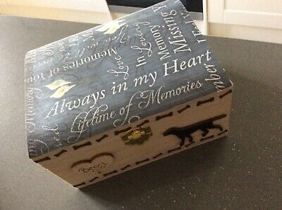 Pet Memorial Wooden Ashes Keepsake Box Handcrafted Personalised Gift Cat Dog