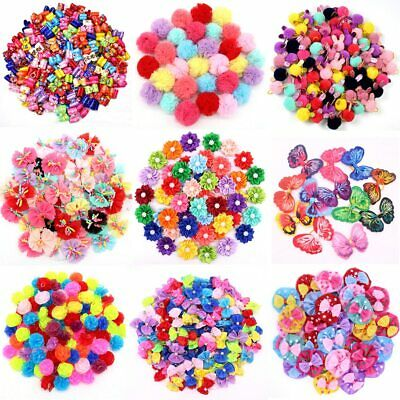 100PCS/Pack Choose Patterns Puppy Dog Small Hair Bows Pet Dog Hair Accessories