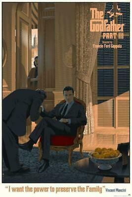 The Godfather Part III by Laurent Durieux SIGNED Ltd x/265 Screen Print Mondo