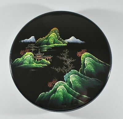 Chinese Handpainted Lacquer Hors D Oeuvres Box