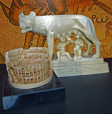 Statues of Romulus & Remus being Suckled by she-wolf, & Colussum, Ancient Greece