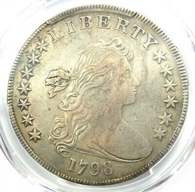 1798 Draped Bust Silver Dollar $1 - Certified PCGS XF Details (EF) - Rare Coin!
