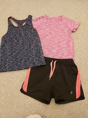Girls HM Sports Shorts/tops Age 6-8