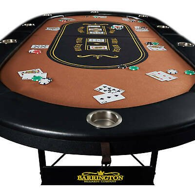 10-Player Poker Table Casino Portable Cards Texas Hold Em Game **BRAND NEW**