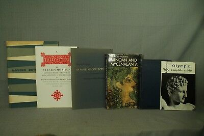 lot vintage old books Minoan and Mycenaean Art Byzantine collection history