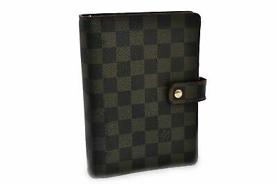 Authentic Louis Vuitton Damier Agenda MM Day Planner Cover R20701 LV 56410