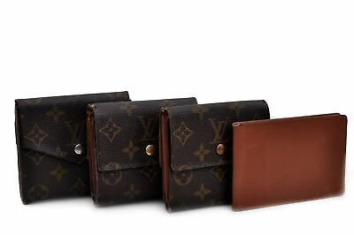 Authentic Louis Vuitton Monogram Taiga Wallet Pass Case 4Set LV 92008