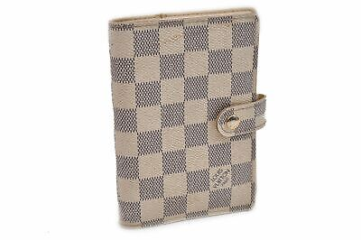 Authentic Louis Vuitton Damier Azur Agenda PM Day Planner Cover R20706 LV 92056